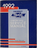 1992 Chevy Lumina APV Mini-Van Factory Service Manual - Original Shop Repair