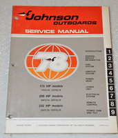 1978 JOHNSON 175hp 200hp 235hp 175 200 235 Outboard Shop Service Repair Manual