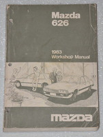 1983 MAZDA 626 2.0L Original Factory Dealer Work Shop Service Repair Manual Book