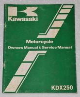 Kawasaki Motorcycle Owner's Manual & Service Manual KDX250