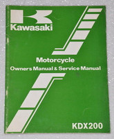 1983 KAWASAKI KDX200 KDX200-A1 KDX 200 Factory Owners Shop Service Repair Manual