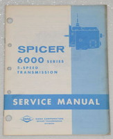 SPICER TRANSMISSION 6000 SERIES 5 SPEED Factory Shop Service Repair Manual p1974