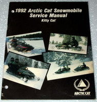 1992 ARCTIC CAT KITTY CAT SNOWMOBILE Original Factory Shop Service Repair Manual