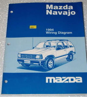 1994 MAZDA NAVAJO LX DX Original Factory Electrical Wiring Diagrams Shop Manual