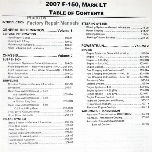 2007 ford f150 lincoln mark lt factory service manual set. Black Bedroom Furniture Sets. Home Design Ideas