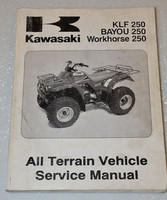 2003 KAWASAKI BAYOU WORKHORSE 250 KLF250-A1 Factory Shop Service Repair Manual