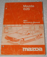 1981 MAZDA 626 Coupe Sedan Sport LX Factory Dealer Shop Service Repair Manual