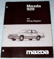 1991 MAZDA 929 Sedan S Factory Dealer Electrical Wiring Diagrams Shop Manual EWD