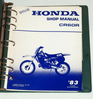 1983 Honda CR60R Motorcycle Factory Shop Service Manual in Binder