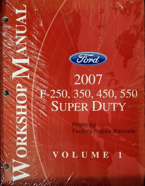 2007 ford f250 f350 f450 f550 super duty factory shop. Black Bedroom Furniture Sets. Home Design Ideas