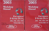 2003 Workshop Manual Excursion F-Super Duty 250, 350, 450, 550 Ford Volume 1, 2