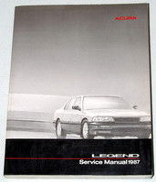 1987 Acura Legend Sedan Factory Service Manual - Original Shop Repair