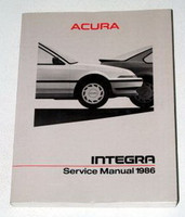 1986 ACURA INTEGRA COUPE RS LS Factory Dealer Shop Service Repair Manual Book 86