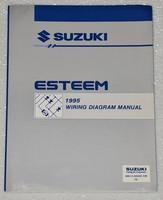 1995 SUZUKI ESTEEM Factory Electrical Wiring Diagrams Shop Manual GL GLX PLUS 95
