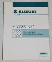1999 2000 2001 SUZUKI SWIFT Factory Electrical Wiring Diagrams Shop Manual GA GL