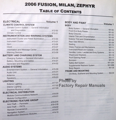Bestseller  Ford Fusion Service Manual