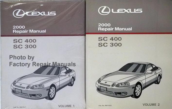 2000 Lexus Sc400 Sc300 Factory Service Manual Set Original