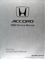 1990 Honda Accord Factory Service Manual - Original Shop Repair