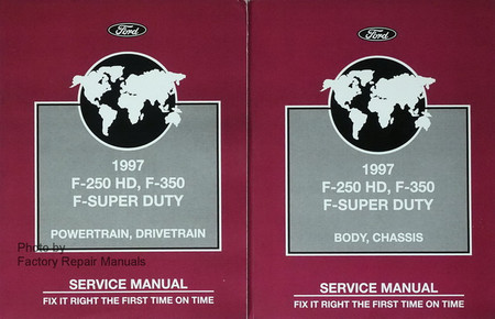 1997 Ford F-250 HD F-350 F Super Duty Service Manual 1, 2