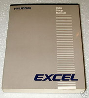 1986 HYUNDAI EXCEL Factory Shop Service Repair Manual GL GLS Hatchback Sedan 86