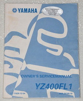 1999 YAMAHA YZ400FL1 YZ400FL YZ400 Motorcycle Orig Owners Service Repair Manual