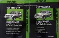 2002 Toyota Land Cruiser Repair Manuals Volume 1 and 2