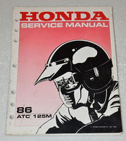 1986 HONDA ATC125M ATC125 ATC 125 ATV Factory Shop Service Repair Manual