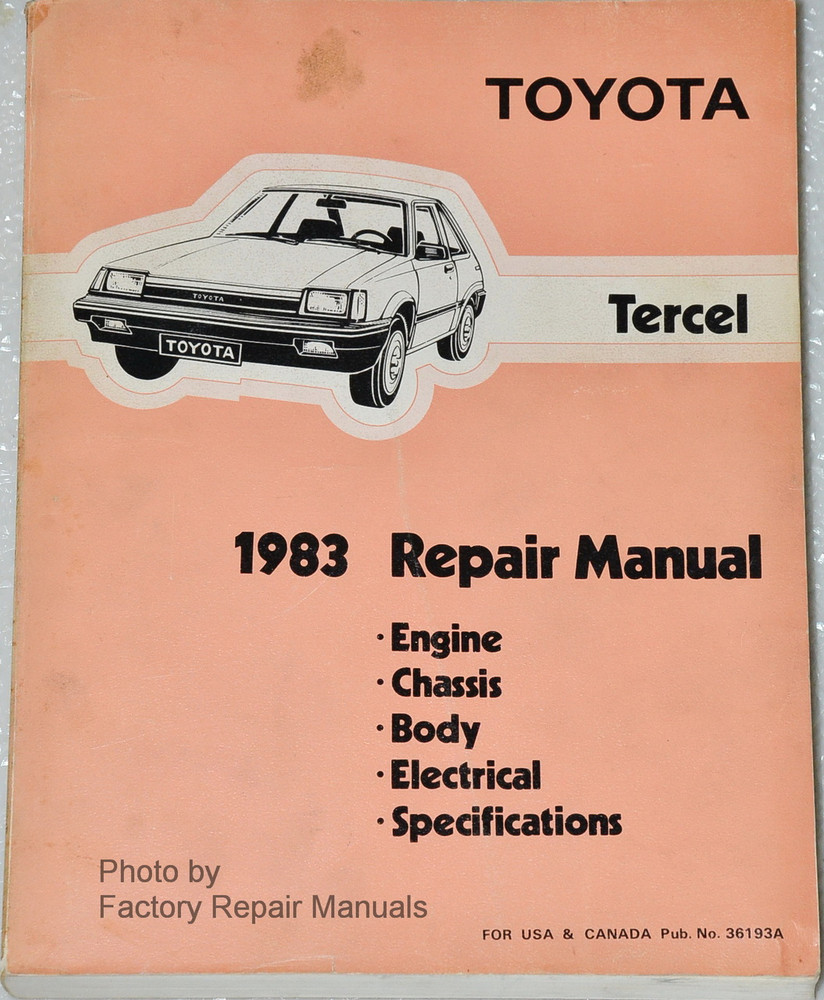 toyota tercel 1996 manual pdf