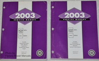 2003 Chevrolet Astro Van, GMC Safari Van Factory Service Manual Set - Original Shop Repair