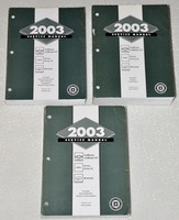 2003 GMC Envoy, Chevy Trailblazer & Oldsmobile Bravada Factory Service Manual Set