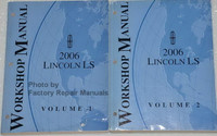 Workshop Manual 2006 Lincoln LS Volume 1 and 2