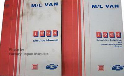 1994 chevy astro van gmc safari factory shop service manual set factory repair manuals 93 GMC Safari Inside 94 GMC Safari Tiara Coach