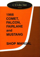 1966 Ford Mustang Falcon Fairlane Ranchero Mercury Comet Shop Service Manual CD
