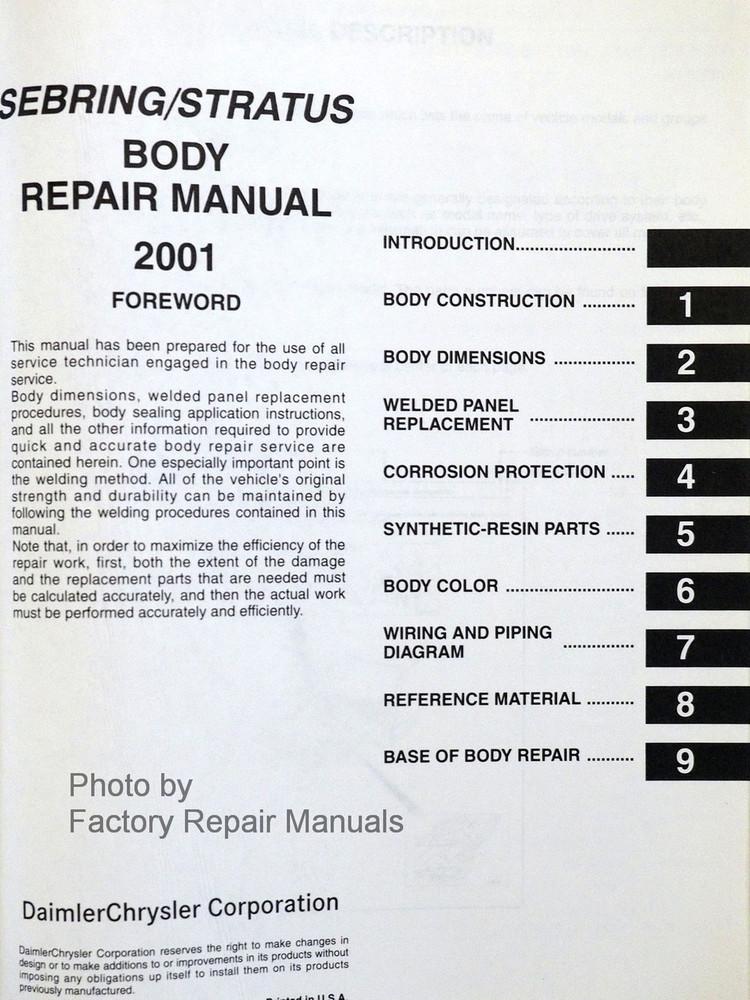 Dodge Stratus Auto Repair Manual - ChiltonDIY
