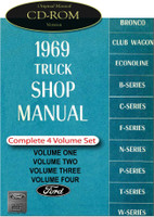1969 Ford Truck F100 F250 F350 Bronco Bus Factory Shop Service Repair Manual CD