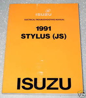 1991 Isuzu Stylus Electrical Troubleshooting Manual Wiring Diagrams