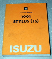 1991 Isuzu Stylus Factory Service Manual Original Shop Repair