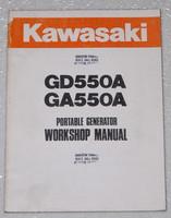 Kawasaki GD550A GA550A Generator Service Manual Original Shop Repair 99924-2019