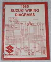 "1985 SUZUKI Motorcycle and ATV Electrical Wiring Diagrams Manual 85 ""F"" Models"