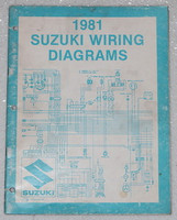 "1981 SUZUKI Motorcycle Electrical Wiring Diagrams Manual 81 ""X"" Models OEM"
