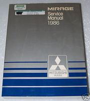 1986 MITSUBISHI MIRAGE Service Manual OEM Factory Dealer Shop Repair Book 86