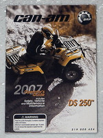 2007 CAN-AM DS250 ATV Operators Guide Owners Manual DS 250 Original 219000424