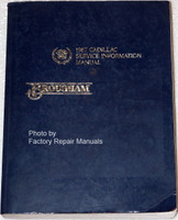 1987 Cadillac Service Information Manual Brougham