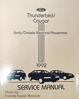 ford thunderbird mercury cougar electrical wiring diagrams 1992 ford thunderbird cougar body chassis engine powertrain 1992 service manual