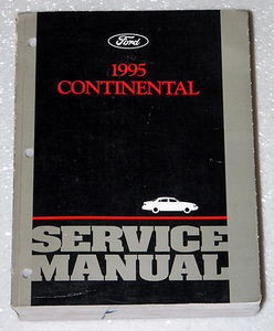 1995 lincoln continental factory service manual original. Black Bedroom Furniture Sets. Home Design Ideas