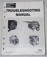 2003 HONDA GENERATOR Troubleshooting Manual 1000 2000 3000 3500 5000 5500 6500