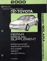 2000 Toyota Camry Solara Convertible Supplement