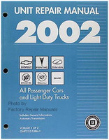 2002 GM Car & Truck Transmission, Transaxle & Transfer Case Unit Repair Shop Manual Set