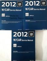 2012 GM W Car Service Manual Chevrolet Impala Volume 1, 2, 3