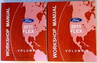 2011 Ford Flex Factory Service Repair Manual 2 Volume Set